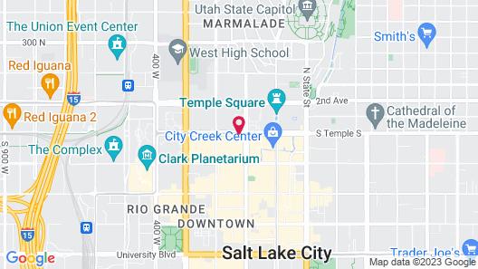 Salt Lake Plaza Hotel at Temple Square Map