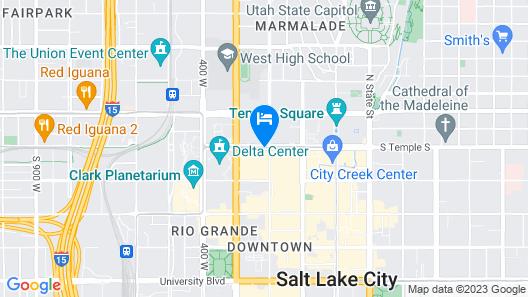 Radisson Hotel Salt Lake City Downtown Map