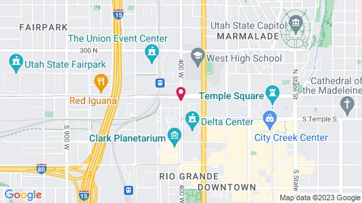 Hyatt Place Salt Lake City/Downtown/The Gateway Map