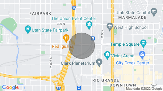 Downtown Condo Near the Salt Palace Convention Center Map