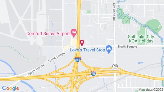 Motel 6 Salt Lake City, UT - West - Airport Map