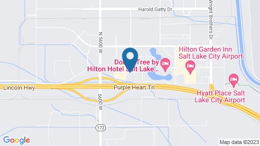 Super 8 by Wyndham Salt Lake City Airport Map