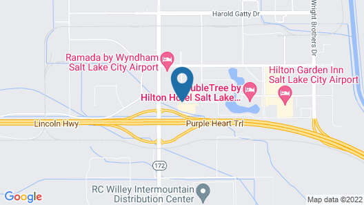 Four Points by Sheraton Salt Lake City Airport Map