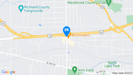 Motel 6 Mansfield, OH Map