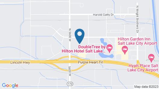 Hampton Inn & Suites Salt Lake City Airport Map