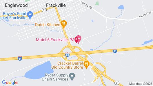 Motel 6 Frackville, PA Map