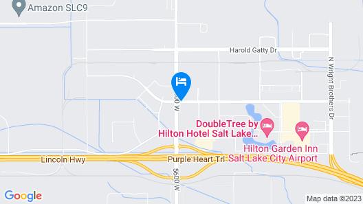 Ramada by Wyndham Salt Lake City Airport Hotel Map