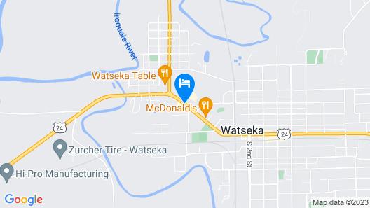 Super 8 by Wyndham Watseka Map