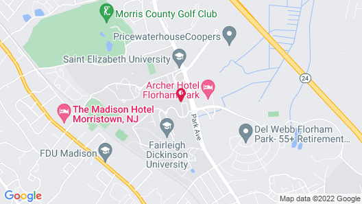 Sonesta Hamilton Park Morristown Hotel & Conference Center Map