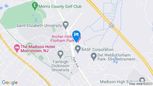Archer Hotel Florham Park/Morristown Map