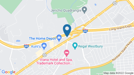Hampton Inn Jericho - Westbury Map