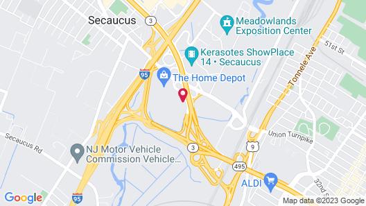 Hilton Garden Inn Secaucus/Meadowlands Map