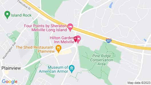 Hilton Garden Inn Melville Map