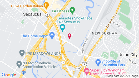 Extended Stay America - Secaucus - New York City Area Map