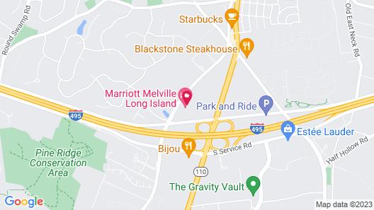 Marriott Melville Long Island Map