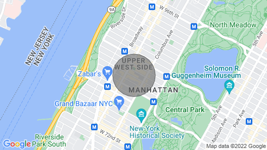 Middle of New York City ~ Manhattan ~ Upper West Side Map