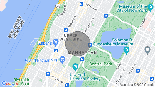 Gorgeous 1 Bedroom Steps to Central Park Map