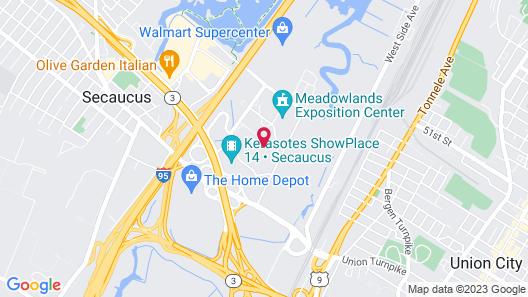 Holiday Inn Secaucus Meadowlands Map