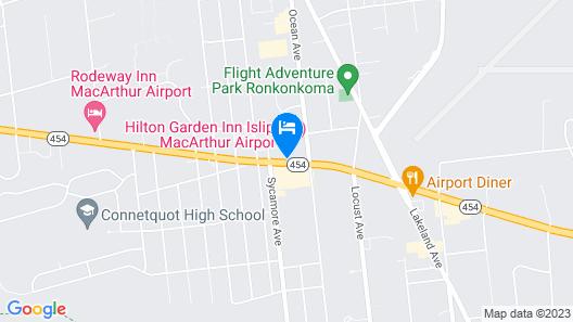 Hilton Garden Inn Islip/MacArthur Airport Map