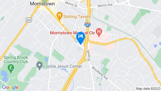 Best Western Plus Morristown Inn Map