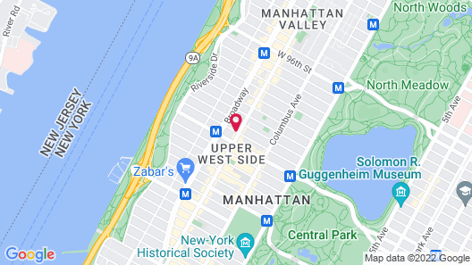 Central Park West Hostel Map