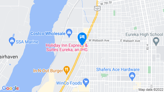 Motel 6 Eureka, CA Map