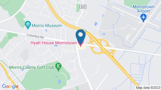 HYATT House Morristown Map