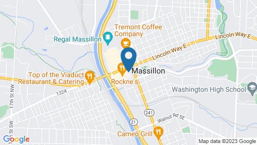 Hampton Inn Canton/Massillon Map