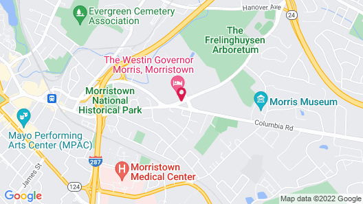 The Westin Governor Morris, Morristown Map