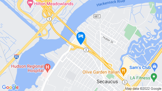 Meadowlands Plaza Hotel Map