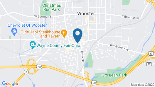 Best Western Plus Wooster Hotel & Conference Center Map