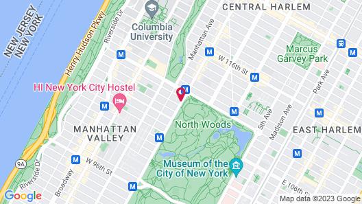 Park West Hotel Map