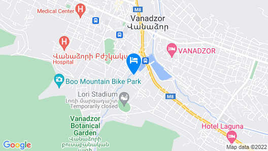 Vanadzor Armenia Hotel Map