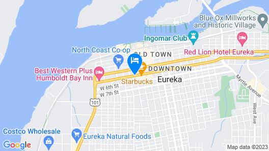 Days Inn by Wyndham Eureka CA Map