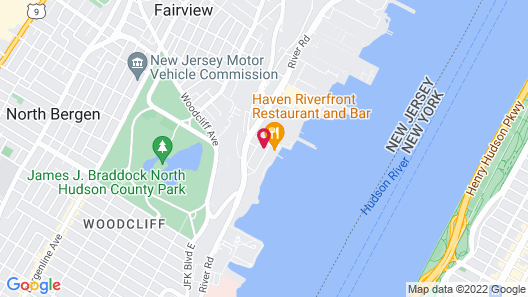 Courtyard by Marriott Edgewater NYC Area Map