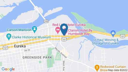 Clarion Hotel By Humboldt Bay Map