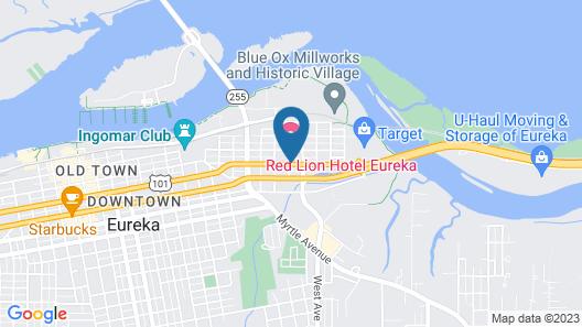 Rodeway Inn Humboldt Bay - Redwood Area Map