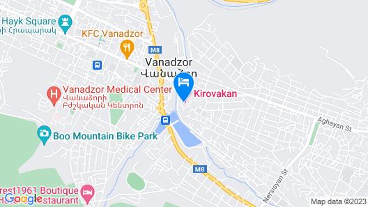 Hotel Kirovakan Map