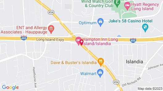 Hampton Inn Long Island/Islandia Map
