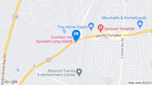 Comfort Inn Syosset-Long Island Map