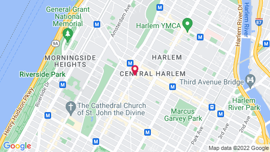 Aloft Harlem Map