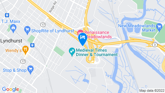 Quality Inn Meadowlands Map