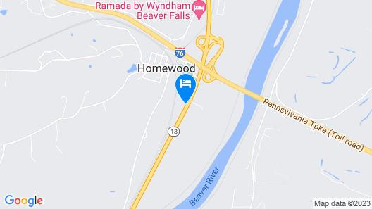 Super 8 by Wyndham Beaver Falls Map
