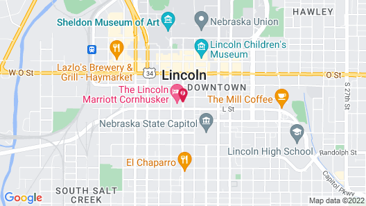 The Lincoln Marriott Cornhusker Hotel Map