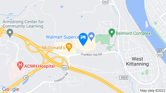 Holiday Inn Express and Suites Kittanning, an IHG Hotel Map