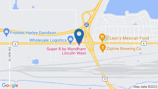 Super 8 by Wyndham Lincoln West Map