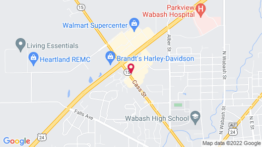 Holiday Inn Express Hotel & Suites Wabash, an IHG Hotel Map