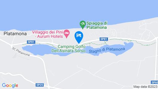 Camping Golfo dell' Asinara Resort Map