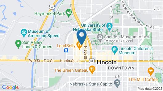 Hilton Garden Inn Lincoln Downtown/Haymarket Map