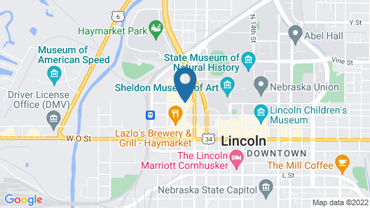 Courtyard by Marriott Lincoln Downtown Map